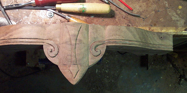 Carved coffee table ii carving the legs and apron by