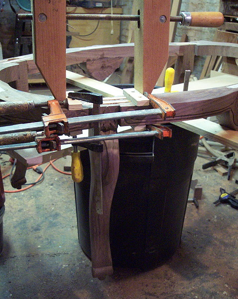Carved coffee table ii leg apron assembly and glue up