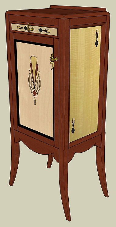 Artdecosheetmusiccabinet for Custom made furniture san francisco